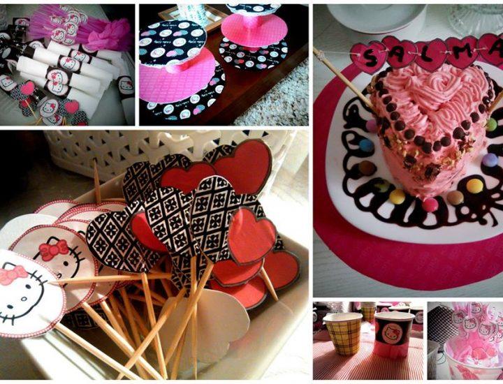 Anniversaire de Salma, thème Hello Kitty