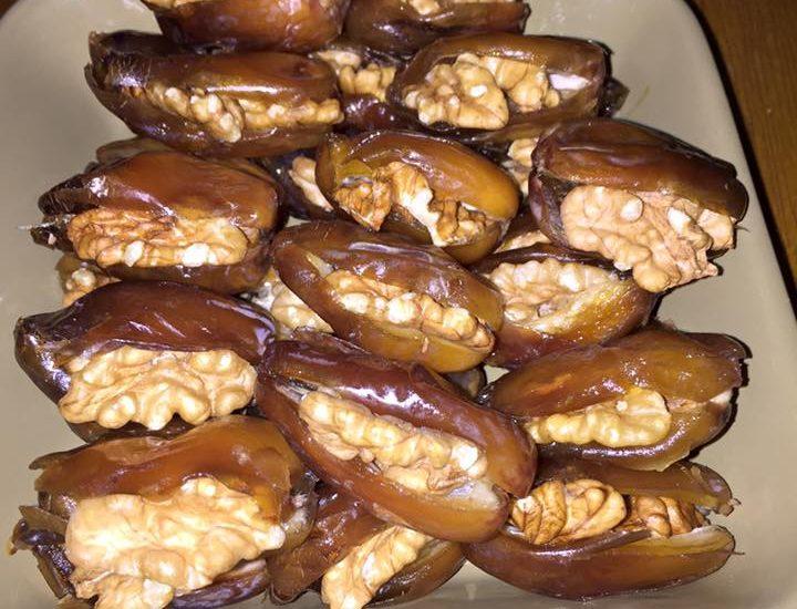 Recette des dattes aux noix