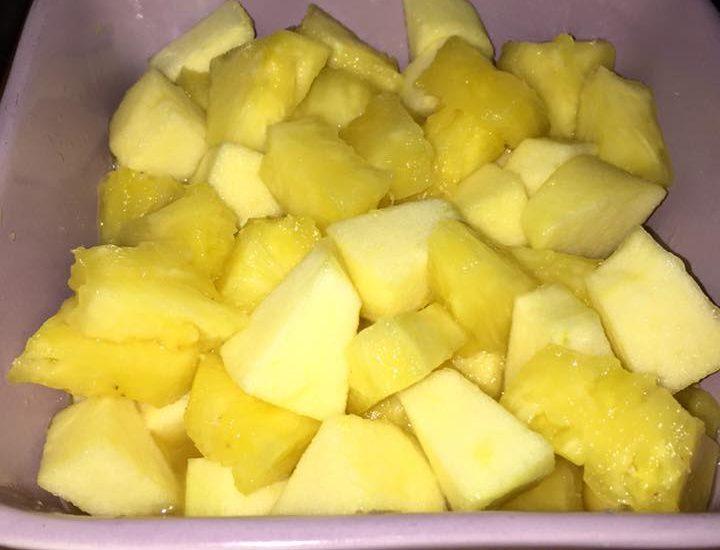 Recette: Salade de fruits (pommes ananas)