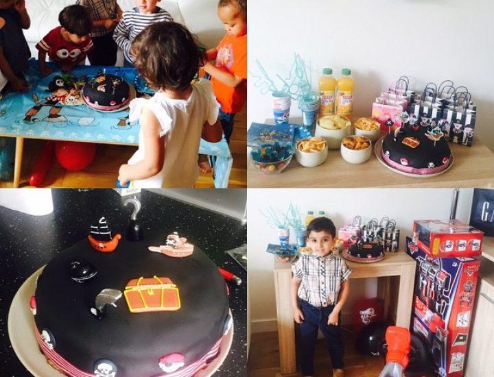 Recette d'un gâteau d'anniversaire fraise chocolat