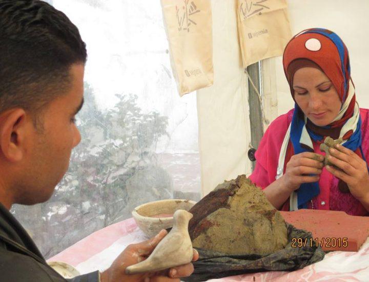 Atelier enfant/parent d'initiation à la poterie par les potières de Sejnane