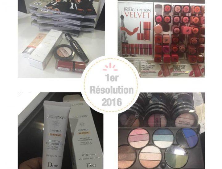 Résolution 2016, voici ma trousse make-up!