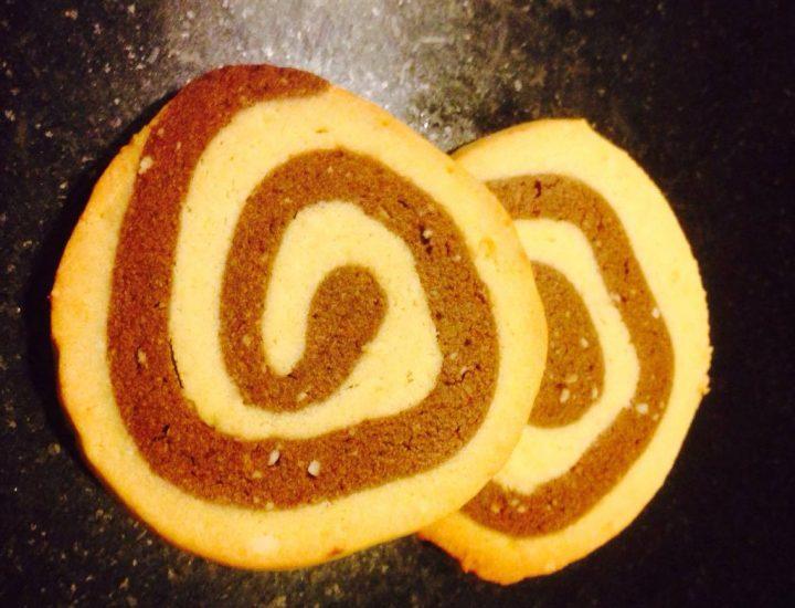 Tournicoti : biscuits escargot vanille chocolat