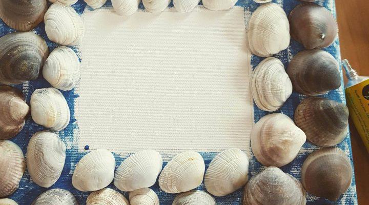 DIY: tableau copquillages