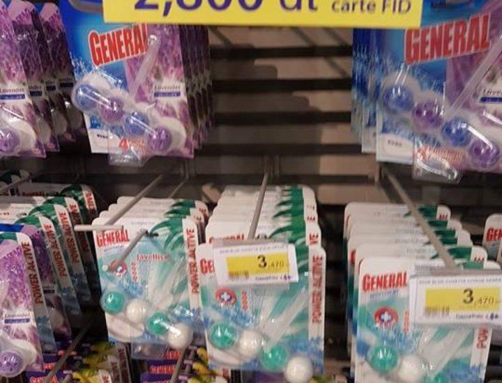 Promos General (bloc cuvette) à Carrefour