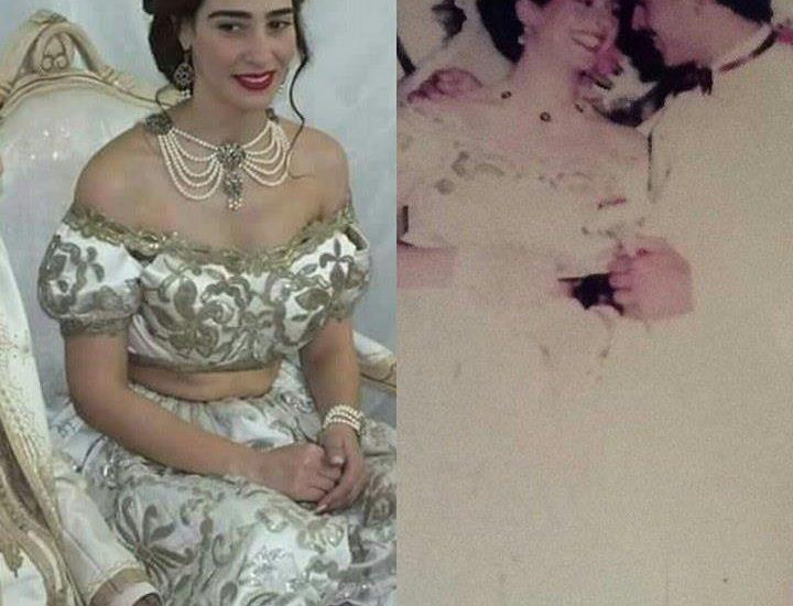 Ma fille a porté la keswa de mon mariage