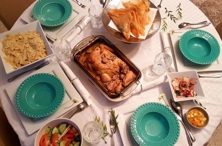 Super Dbara pour des invités: poulet farçi